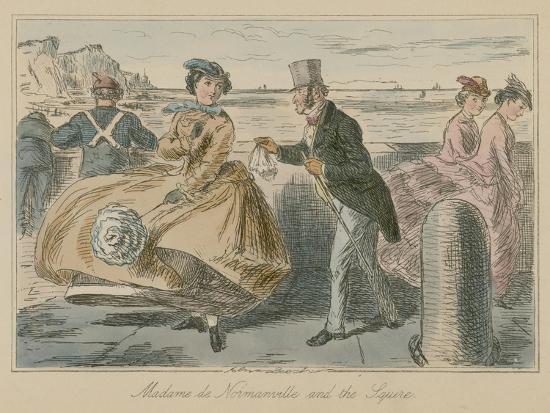 Madame De Normanville and the Squire-John Leech-Giclee Print