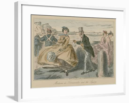 Madame De Normanville and the Squire-John Leech-Framed Giclee Print