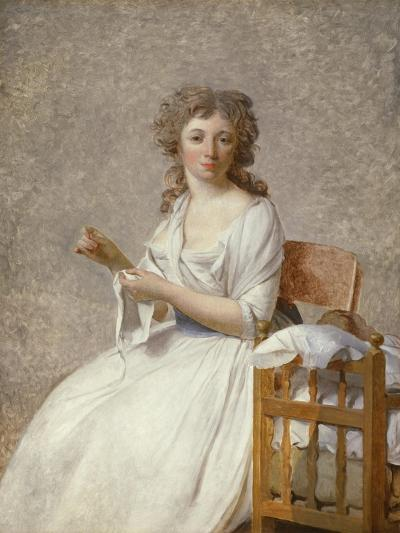 Madame De Pastoret and Her Son, 1791-92-Jacques Louis David-Giclee Print