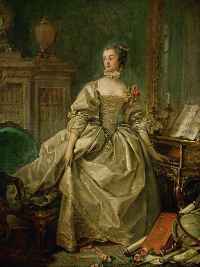 Madame De Pompadour (1721-1764)-Francois Boucher-Giclee Print