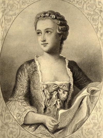 Madame De Pompadour (1721-64)--Giclee Print