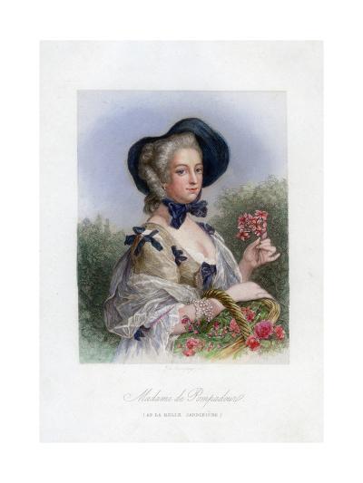 Madame De Pompadour as the Beautiful Gardener--Giclee Print