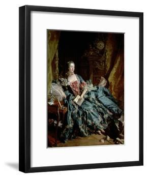 Madame De Pompadour-Francois Boucher-Framed Giclee Print
