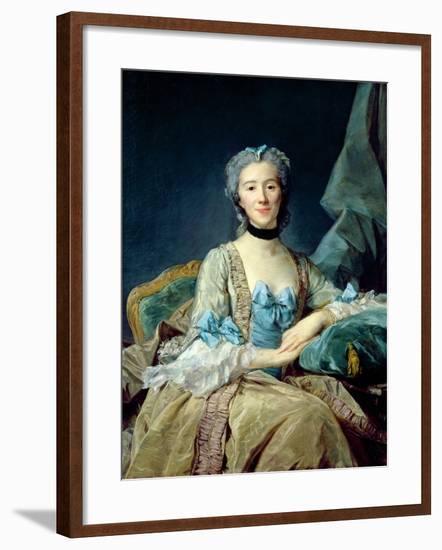 Madame De Sorquainville, 1749-Jean-Baptiste Perronneau-Framed Giclee Print