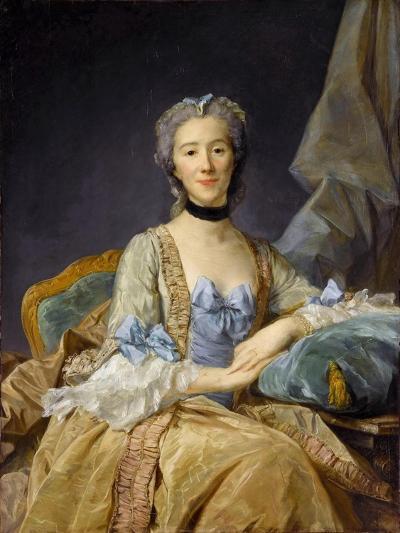 Madame De Sorquainville-Jean-Baptiste Perronneau-Giclee Print