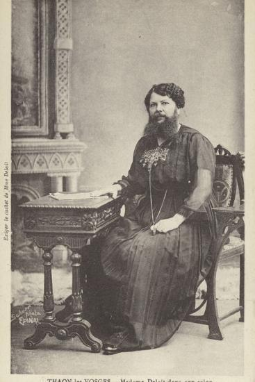 Madame Delait in Her Sitting Room--Photographic Print