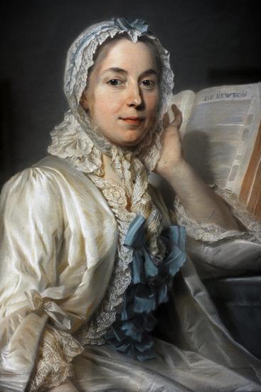Madame Ferrand Meditating on Newton, 1753-Maurice Quentin de La Tour-Giclee Print
