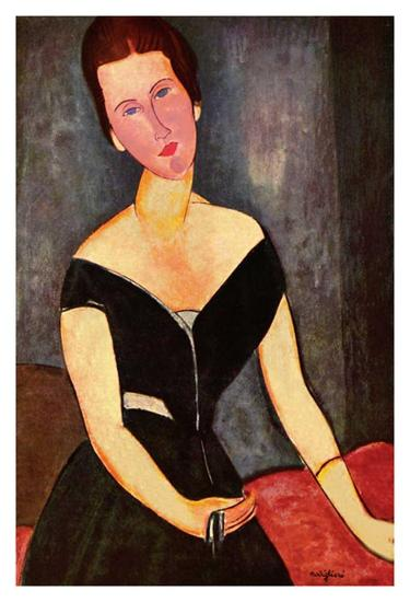 Madame Georges van Muyden-Amedeo Modigliani-Art Print
