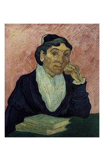 Madame Ginoux with Pink Background-Vincent van Gogh-Art Print