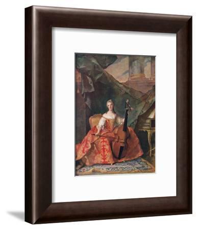'Madame Henriette, Daughter of Louis XV', 1742, (1912)-Jean-Marc Nattier-Framed Giclee Print