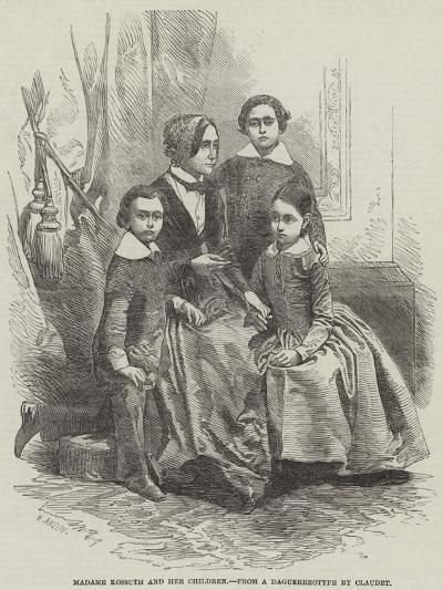 Madame Kossuth and Her Children-Henry Anelay-Giclee Print