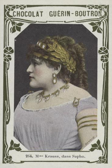 Madame Krauss, Dans Sapho--Giclee Print