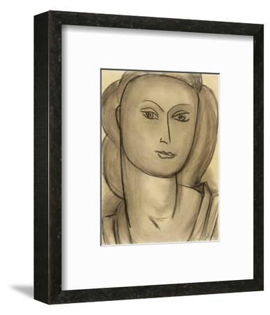 Madame Lucienne Bernard, c.1946-Henri Matisse-Framed Art Print