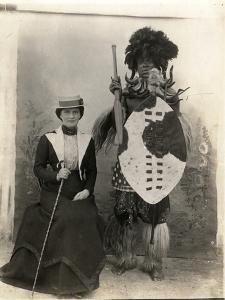 Madame Maguire on Tour Meeting Zulu, C.1900