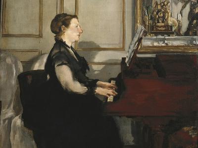 Madame Manet at the Piano-Edouard Manet-Art Print