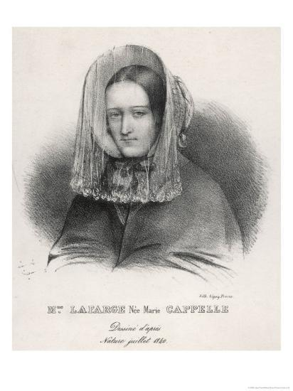 Madame Marie Lafarge Nee Cappelle at the Time of Her Trial in July 1840-Ligny Freres-Giclee Print