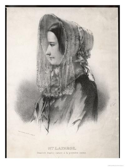 Madame Marie Lafarge Nee Cappelle at the Time of Her Trial in July 1840-Eric De Coulon-Giclee Print