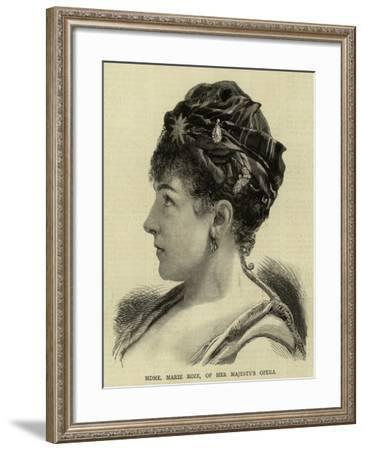 Madame Marie Roze, of Her Majesty's Opera--Framed Giclee Print