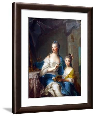 Madame Marsollier and Her Daughter-Jean-Marc Nattier-Framed Art Print