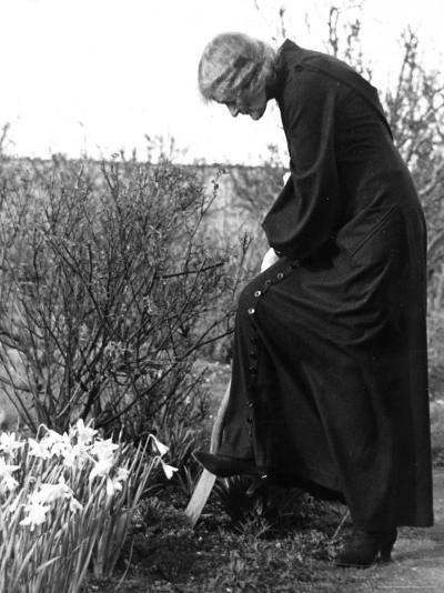 Madame Maud Gonne MacBride Working in Her Garden-John Phillips-Photographic Print