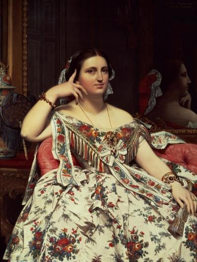 Madame Moitessier, 1856-Jean-Auguste-Dominique Ingres-Giclee Print