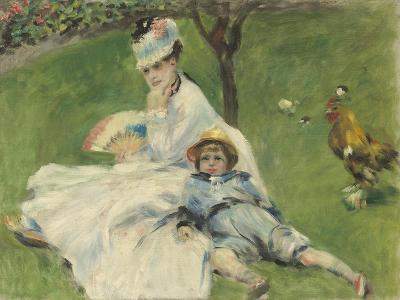Madame Monet and Her Son, 1874-Pierre-Auguste Renoir-Giclee Print