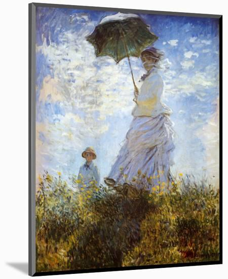 Madame Monet and Her Son-Claude Monet-Mounted Art Print