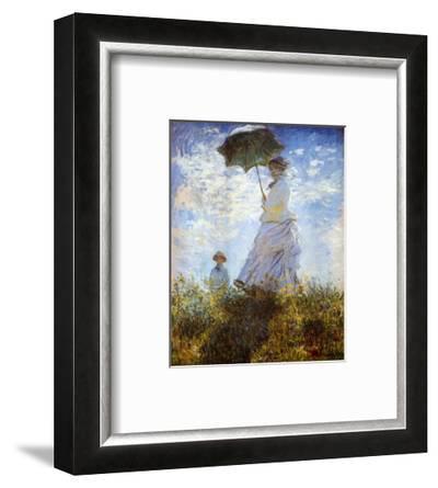 Madame Monet and Her Son-Claude Monet-Framed Art Print