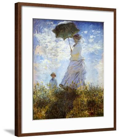 Madame Monet and Her Son-Claude Monet-Framed Art Print