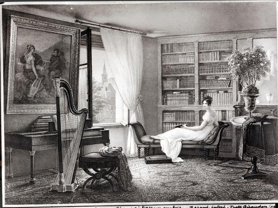 Madame Recamier (1777-1849) at Abbaye-Aux-Bois, 1810-44-Francois Louis Dejuinne-Giclee Print
