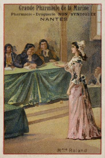 Madame Roland, French Revolutionary--Giclee Print