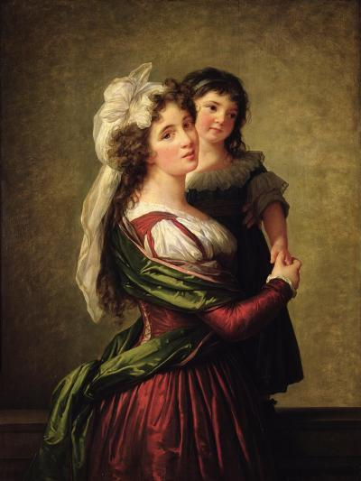 Madame Rousseau and Her Daughter, 1789-Elisabeth Louise Vigee-LeBrun-Giclee Print