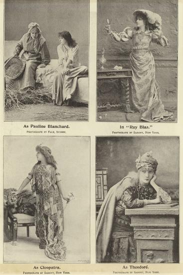 Madame Sara Bernhardt in Some of Her Characters--Photographic Print