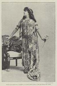 Madame Sarah Bernhardt as Cleopatra, in Victorien Sardou's Drama, at the New English Opera House