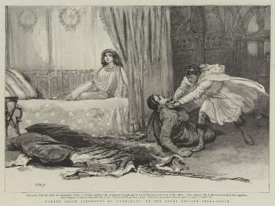 Madame Sarah Bernhardt at Cleopatra at the Royal English Opera-House-Henry Marriott Paget-Giclee Print