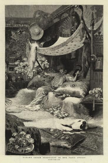 Madame Sarah Bernhardt in Her Paris Studio--Giclee Print