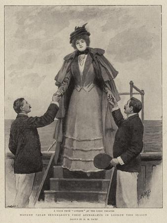 Madame Sarah Bernhardt's First Appearance in London This Season-Henry Marriott Paget-Giclee Print