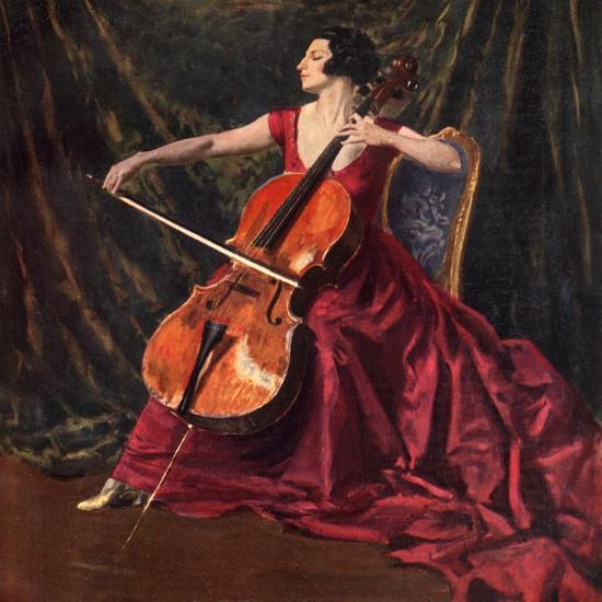 Madame Suggia, 1920-1923-Augustus John-Giclee Print