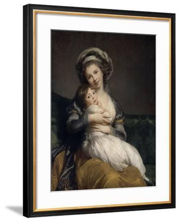 Madame Vigée-Le Brun et sa fille, Jeanne Marie-Louise (1780-1819)-Elisabeth Louise Vigée-LeBrun-Framed Giclee Print