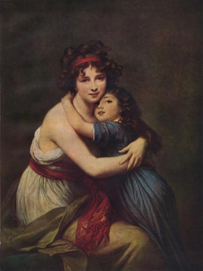 Madame Vigee Lebrun and her daughter, Jeanne Lucie Louise, 1789, (1938)-Elisabeth Louise Vigee-LeBrun-Giclee Print