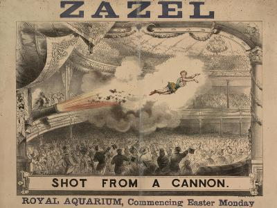 Madame Zazel Shot From a Cannon--Giclee Print