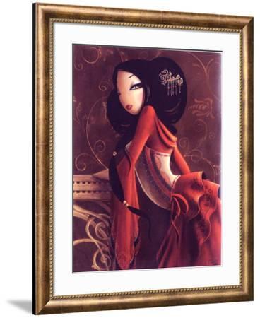 Madame-Misstigri-Framed Art Print