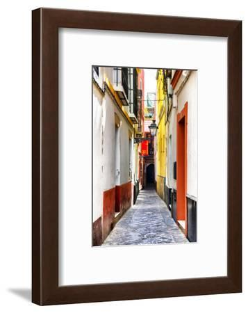 Made in Spain Collection - Colorful Alley in Seville-Philippe Hugonnard-Framed Photographic Print