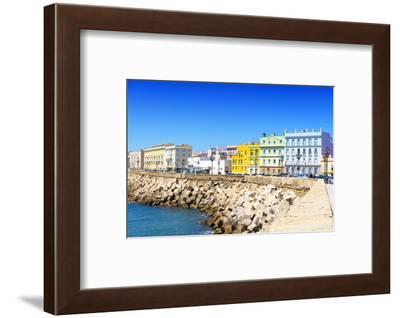 Made in Spain Collection - Colorful Buildings in Cadiz-Philippe Hugonnard-Framed Photographic Print