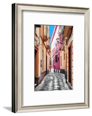 Made in Spain Collection - Colourful Pedestrian Street in Seville IV-Philippe Hugonnard-Framed Photographic Print