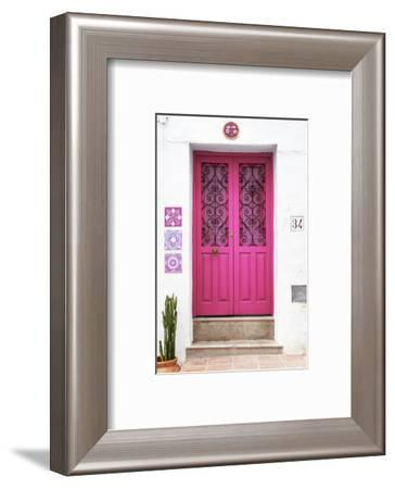 Made in Spain Collection - Deep Pink Front Door-Philippe Hugonnard-Framed Photographic Print