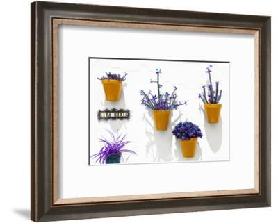 Made in Spain Collection - Orange Pots Wall-Philippe Hugonnard-Framed Photographic Print