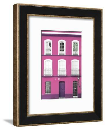 Made in Spain Collection - Pink Facade of Traditional Spanish Building-Philippe Hugonnard-Framed Photographic Print