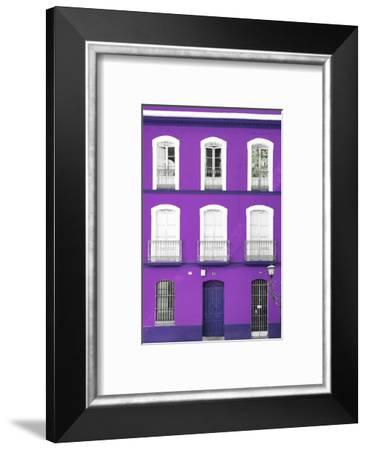 Made in Spain Collection - Purple Facade of Traditional Spanish Building-Philippe Hugonnard-Framed Photographic Print