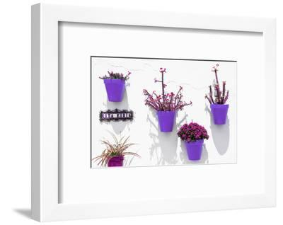 Made in Spain Collection - Purple Pots Wall-Philippe Hugonnard-Framed Photographic Print